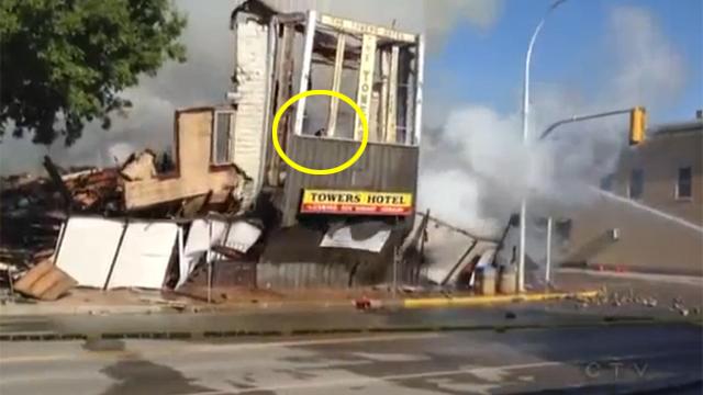 무너지는 건물, 고양이 운명은?