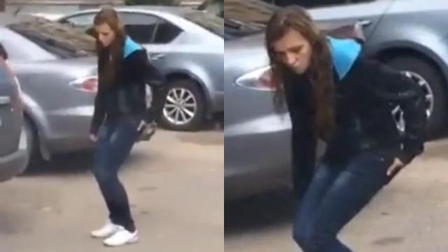 길거리에서 본 이상한 여자