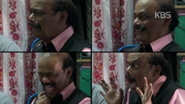 인도에서 만난 사람 표정이 예술