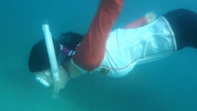 물을 무서워 한 여자, 반전 실력