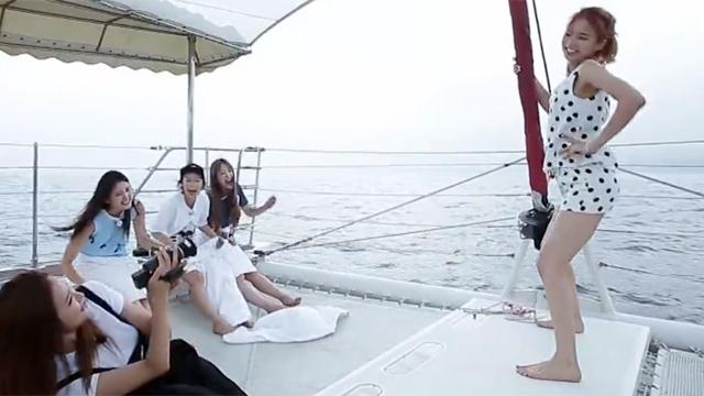 멤버들 빵 터진 요트 섹시 댄스