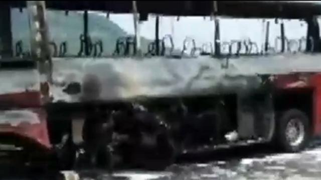 버스 폭발로 이어진 최악의 사고