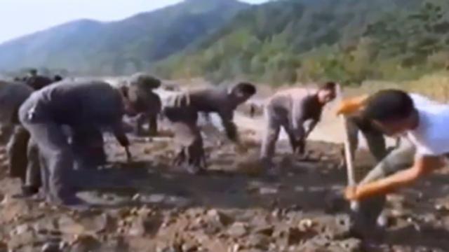 북한의 황당한 실제 수해 복구