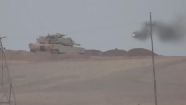 IS 미사일에 사라진 이라크 탱크