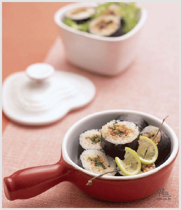 삼색나물 장아찌 김밥