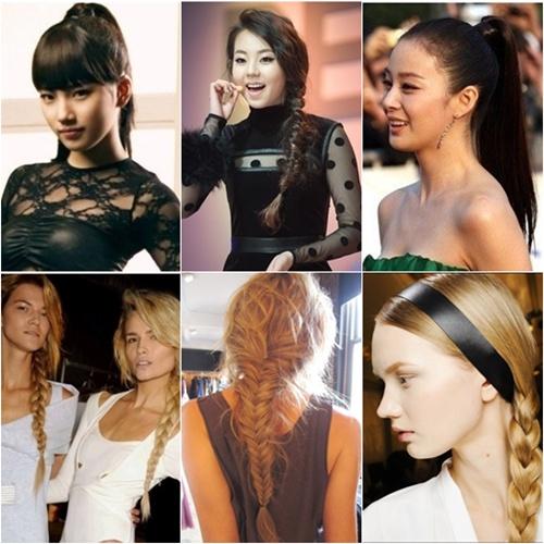 포니테일과 브레이드 스타일은 앞머리의 유무와 땋기의 방법에 따라 다양한 이미지를 만들 수 있다