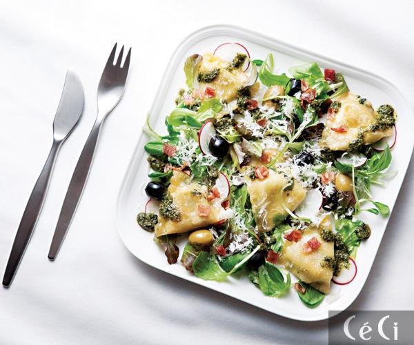 마트 재료로 만드는 레스토랑급 샐러드-라비올리 샐러드