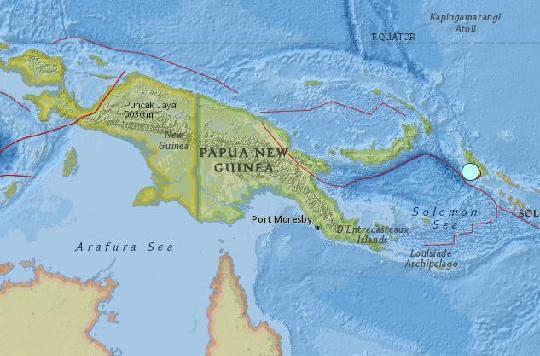 쓰나미 주의보, 파푸아뉴기니 7.5 지진 발생..
