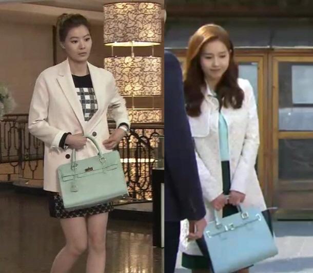 윤소이 이진, 걸리시한 스타일링에 힘을 더하려면 '민트 컬러 핸드백'