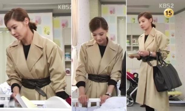'천상여자' 윤소이, 루즈핏의 멋스러움 극치 '베이직 롱 재킷'