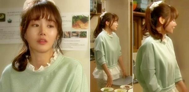 '기분 좋은 날' 황우슬혜, 러블리한 니트 패션 '레이스의 활용법'