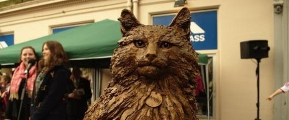 8000달러 고양이 조각상 세운 스코틀랜드 마을