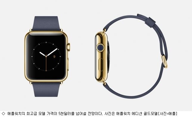 """""""애플워치 골드모델 애플기기 중 최고가품"""""""