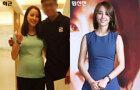 임신 7개월째 한혜진 근황 포착.. 청순미모 여전